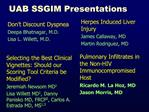 UAB SSGIM Presentations