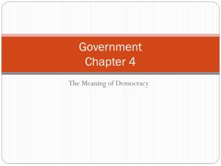 Government Chapter 4