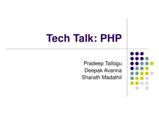 Tech Talk: PHP
