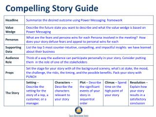 Compelling Story Guide