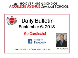 Daily Bulletin September 6, 2013