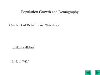 Population Growth and Demography