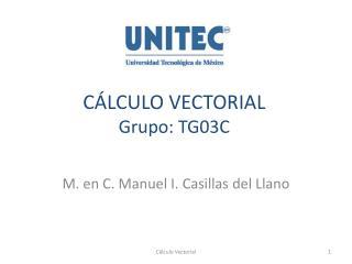 CÁLCULO VECTORIAL Grupo:  TG03C