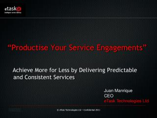 Juan  Manrique CEO eTask Technologies Ltd