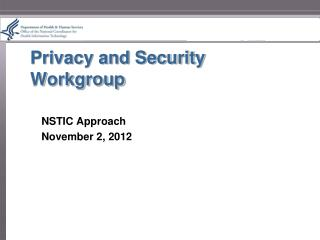 Privacy and Security Workgroup