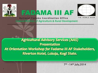 FADAMA III AF