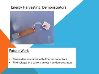 Energy Harvesting  Demonstrators