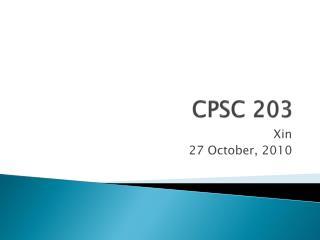 CPSC 203