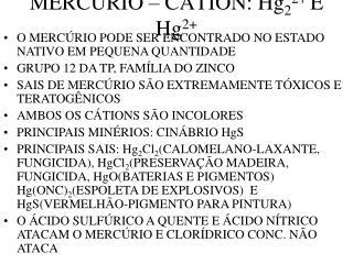 MERC RIO   C TION: Hg22 E  Hg2