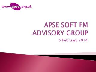 APSE SOFT FM  ADVISORY GROUP
