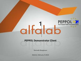 PEPPOL Demonstrator Client
