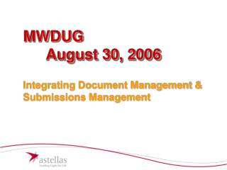 MWDUG  August 30, 2006