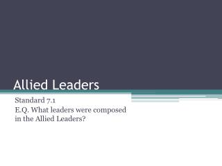Allied Leaders