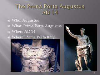 The Prima  Porta  Augustus AD  14