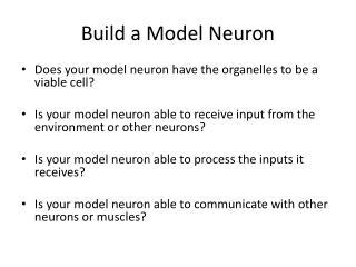 Build a Model Neuron