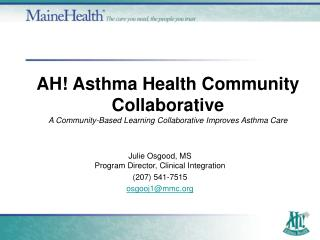 AH Asthma Health Community Collaborative A Community-Based Learning Collaborative Improves Asthma Care