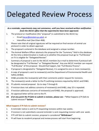 Delegated Review Process