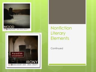 Nonfiction Literary Elements