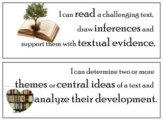 I can  read  a challenging text,