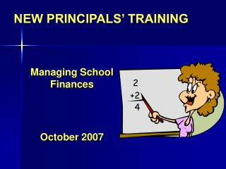 NEW PRINCIPALS  TRAINING