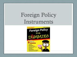 Foreign Policy Instruments