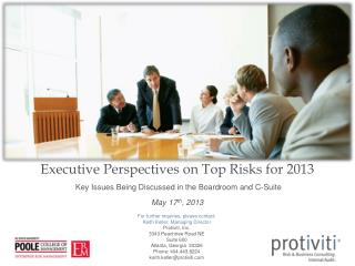 Executive Perspectives on Top Risks for 2013