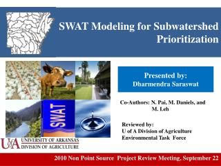 SWAT Modeling for  Subwatershed  Prioritization