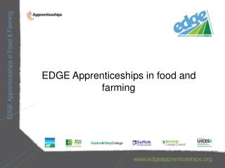 EDGE Apprenticeships in food and farming