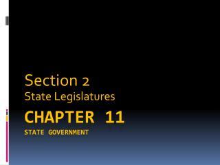 Chapter 11 State Government
