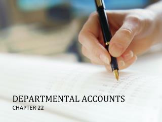 DEPARTMENTAL ACCOUNTS
