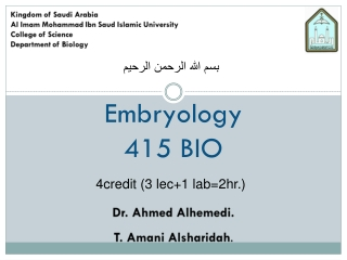 Lab 13: Animal Embryology and Development