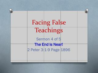 Facing False Teachings