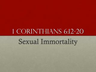 1 Corinthians 6:12-20
