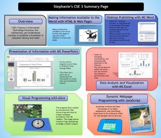Stephanie's CSE 3 Summary Page