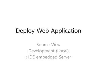 Deploy Web Application