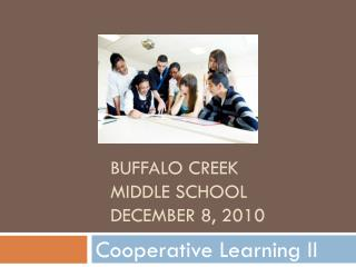 Buffalo Creek Middle school december  8, 2010