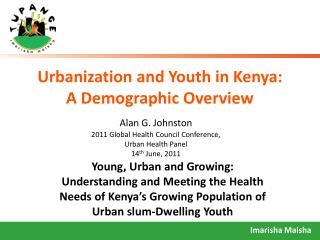Urbanization and Youth in Kenya:  A Demographic Overview
