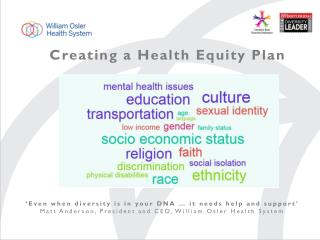 Creating a Health Equity Plan