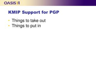 KMIP Support for PGP