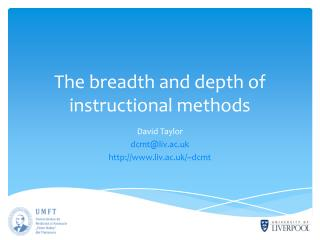 The breadth and depth of instructional methods