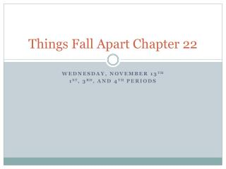 Things Fall Apart Chapter 22