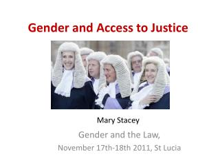 Gender and Access to Justice