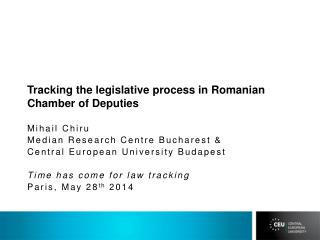 Tracking the legislative process in  Romanian Chamber of Deputies