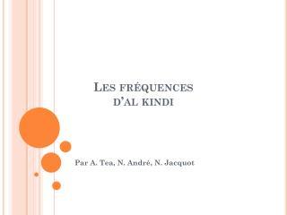 Les fréquences  d'al kindi