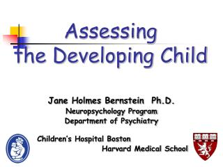 Assessing  the Developing Child