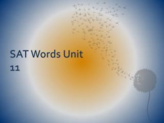 SAT Words Unit 11