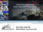 OAGITM Conference CNIC Network Presentation
