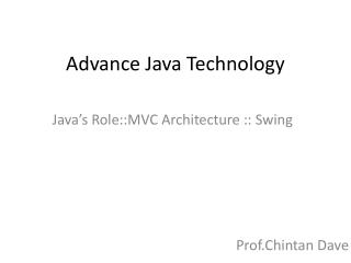 Advance Java Technology