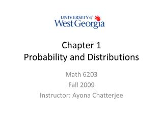 Chapter 1 Probability and Distributions