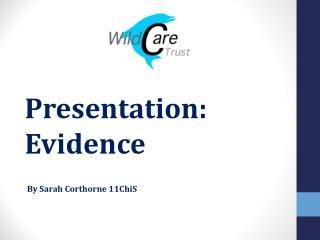 Presentation: Evidence